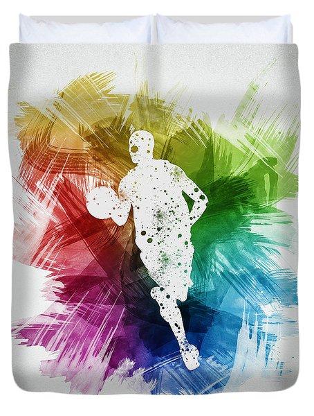 Basketball Player Art 17 Duvet Cover