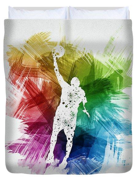 Basketball Player Art 19 Duvet Cover