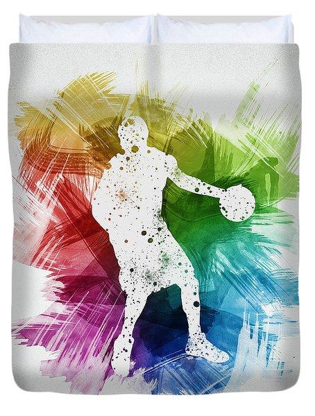 Basketball Player Art 21 Duvet Cover