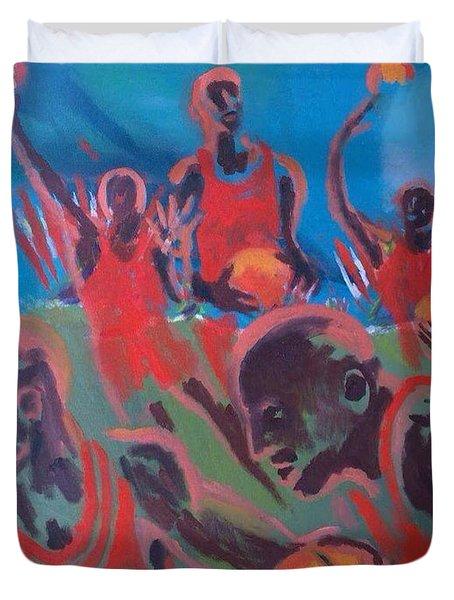 Basketball Soul Duvet Cover