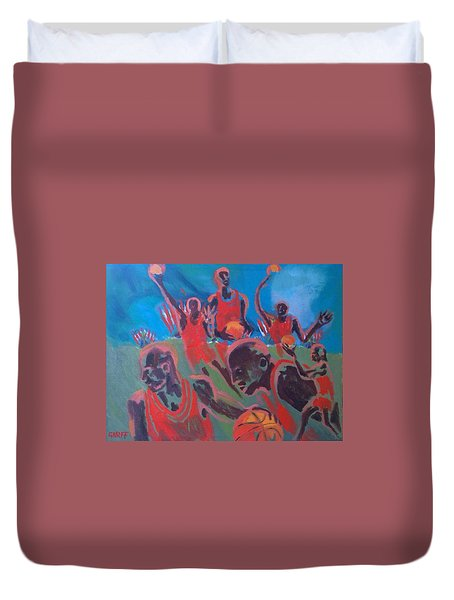Basketball Soul Duvet Cover