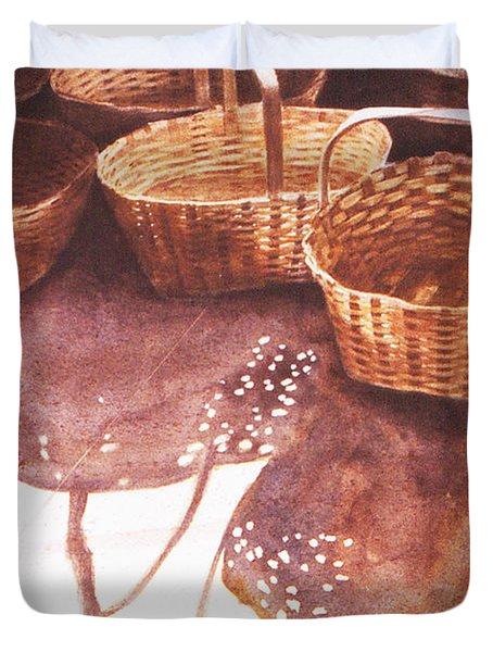 Baskets In The Sun Duvet Cover