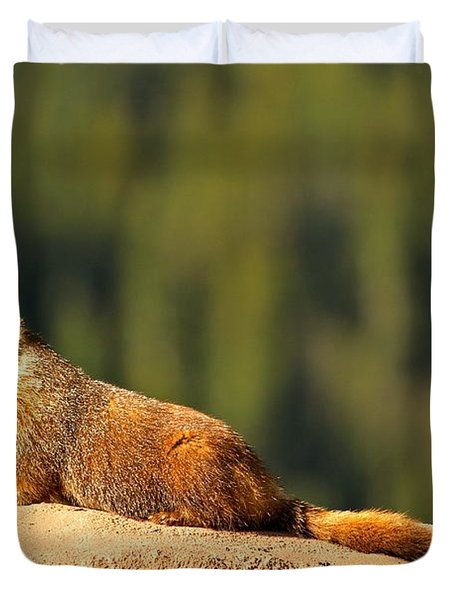 Basking In The Summer Sun Duvet Cover