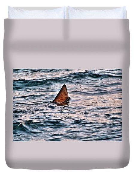 Basking Shark In July Duvet Cover