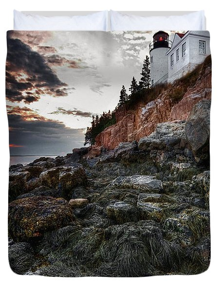 Bass Harbor Light Duvet Cover