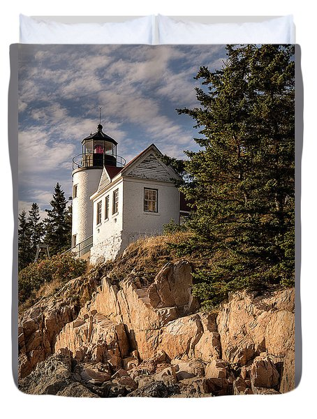 Bass Harbor Lighthouse Duvet Cover