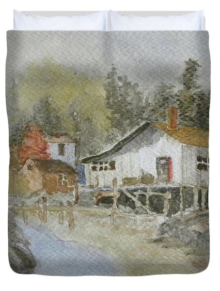 Bass Harbor Retreat Duvet Cover