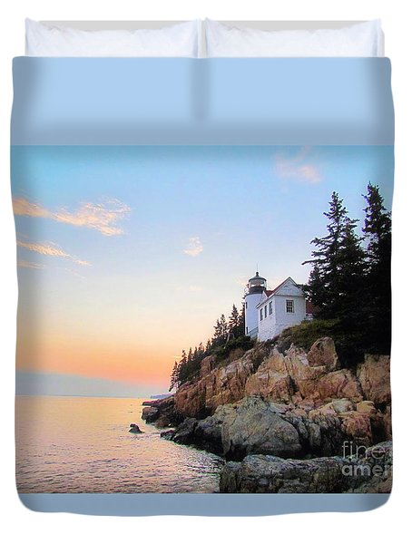 Bass Harbor Sunset II Duvet Cover