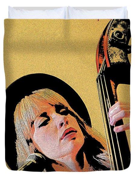 Bass Player Duvet Cover