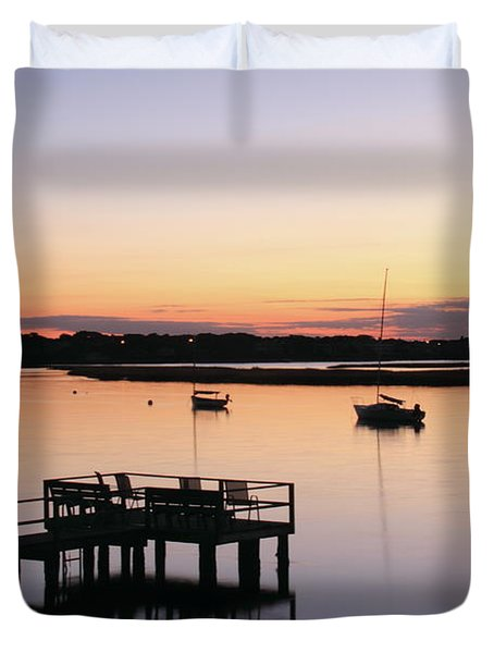 Duvet Cover featuring the photograph Bass River Before Sunrise by Roupen  Baker