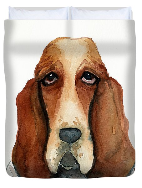 Basset Hound Duvet Cover by Leanne Wilkes
