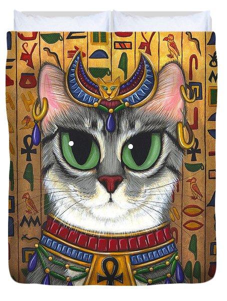 Bast Goddess - Egyptian Bastet Duvet Cover