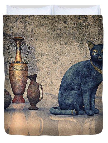 Bastet And Pottery Duvet Cover