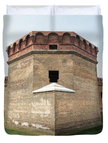 Bastion At Ft Jefferson Duvet Cover