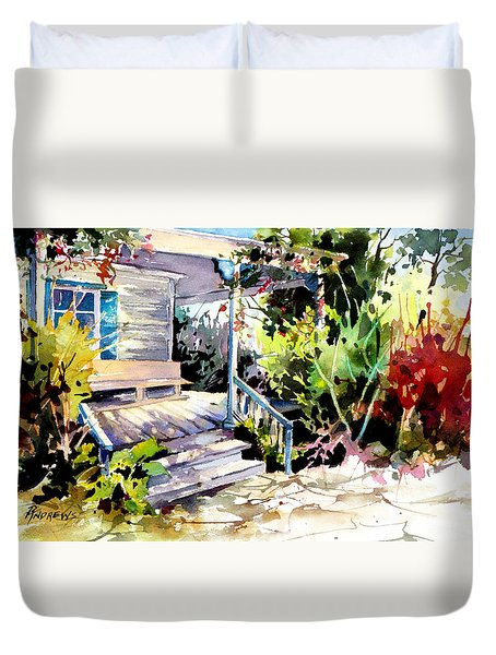 Bastrop Welcome Duvet Cover by Rae Andrews