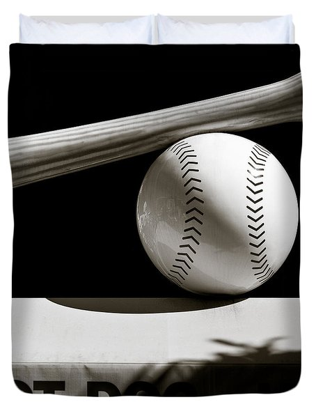 Bat And Ball Duvet Cover by Dave Bowman