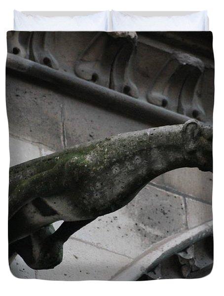 Bat Eared Dog Gargoyle Of Notre Dame Duvet Cover