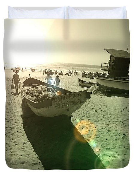 Duvet Cover featuring the photograph Batboat by Beto Machado