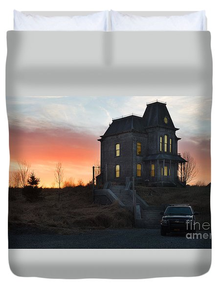 Bates Motel At Night Duvet Cover