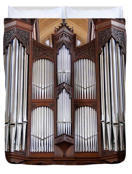 Bath Abbey Organ Duvet Cover