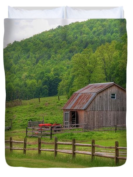 Duvet Cover featuring the photograph Bath Barn 0428a by Guy Whiteley