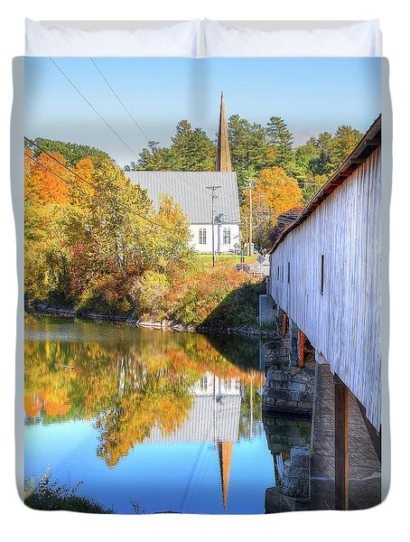 Bath Covered Bridge Duvet Cover
