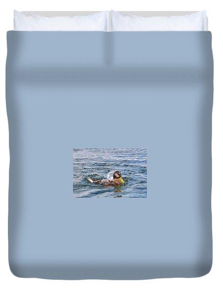 Duvet Cover featuring the photograph Bath Time by Glenn Gordon