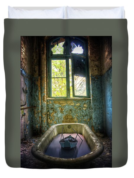 Duvet Cover featuring the digital art Bath Toy by Nathan Wright