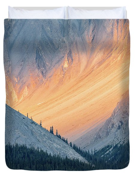 Duvet Cover featuring the photograph Bathed In Light by Carl Amoth