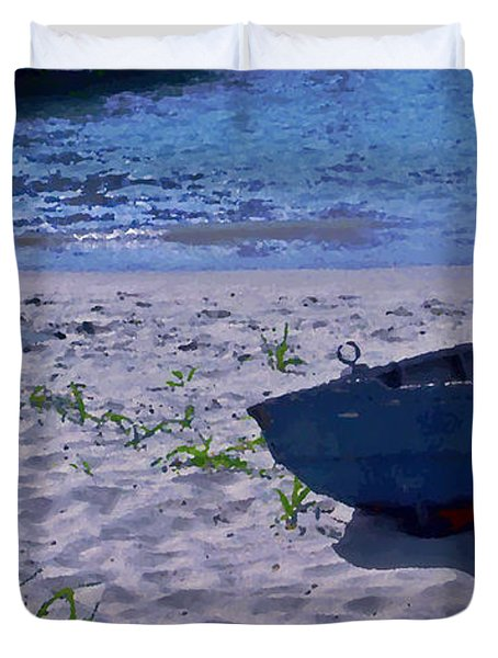 Bather By The Bay Duvet Cover