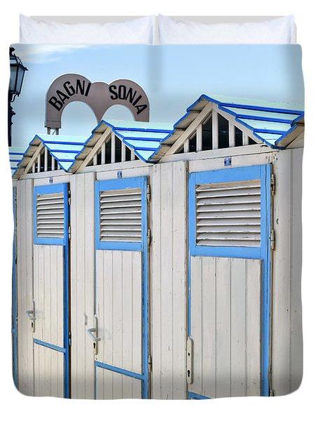 Bathhouses In The Mediterranean Duvet Cover