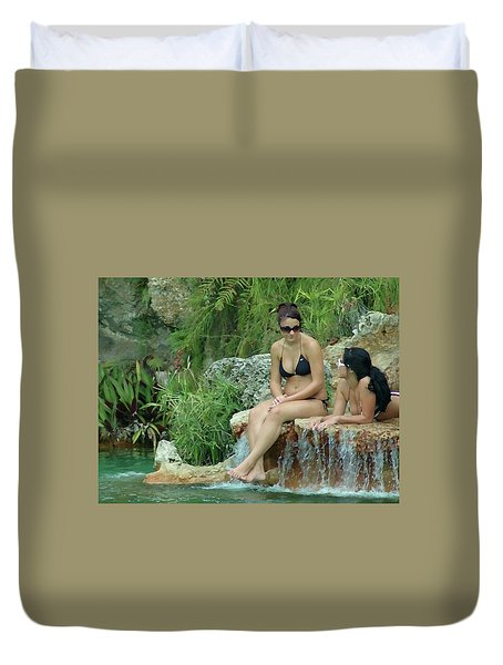 Bathing Beauties Duvet Cover
