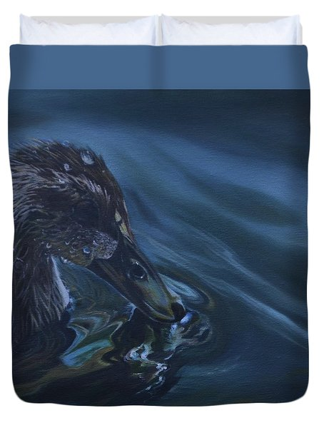Bathing Duckline Duvet Cover