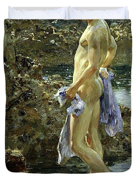 Bathing Group Of 1914 Duvet Cover