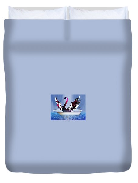Bathing Swann Duvet Cover