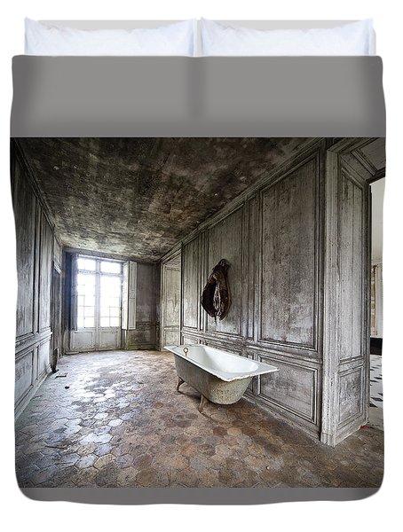 Bathroom Decay - Urban Exploration Duvet Cover by Dirk Ercken