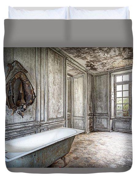 Bathroom In Decay - Abandoned Building Duvet Cover by Dirk Ercken