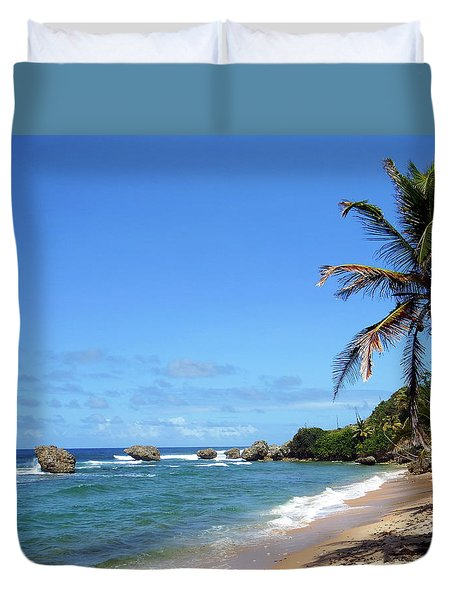 Duvet Cover featuring the photograph Bathsheba, Barbados, by Kurt Van Wagner
