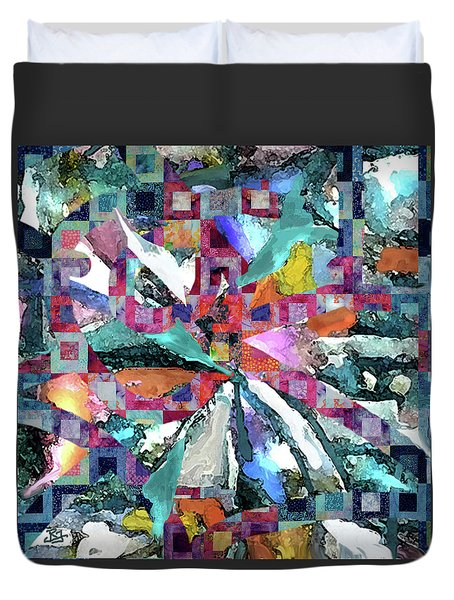 Batik Overlay Duvet Cover
