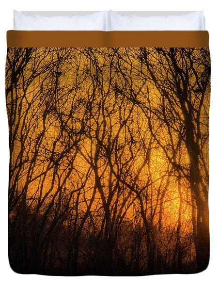 Batik Sunset Duvet Cover