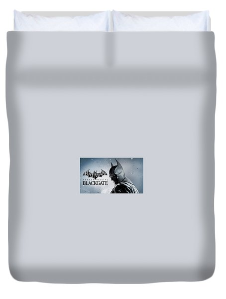 Batman Arkham Origins Blackgate Duvet Cover