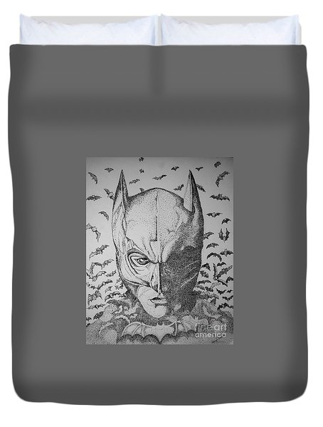 Batman Flight Duvet Cover by Tamyra Crossley