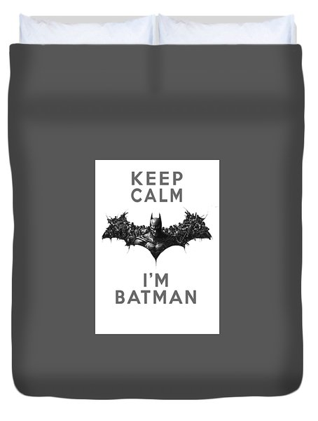 Batman Keep Calm Duvet Cover
