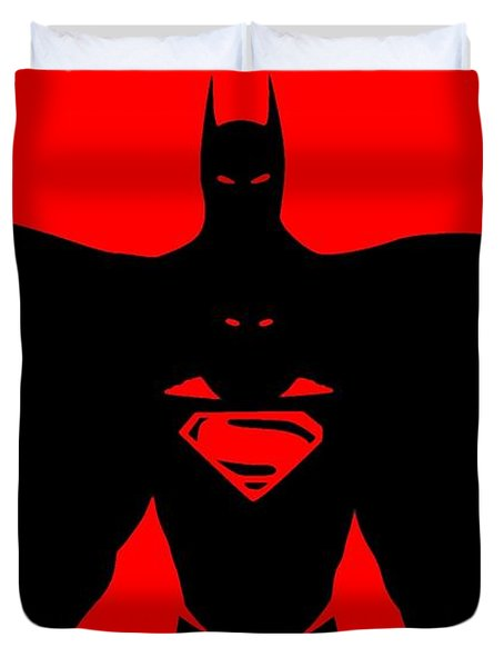 Batman/superman Duvet Cover