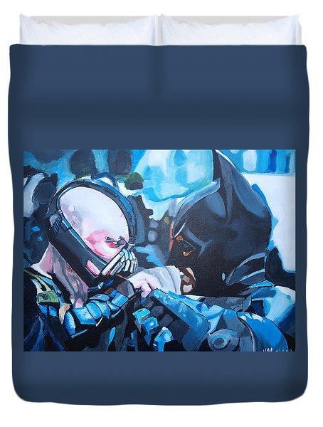 Batman Vs Bane Duvet Cover by Martin Putsey