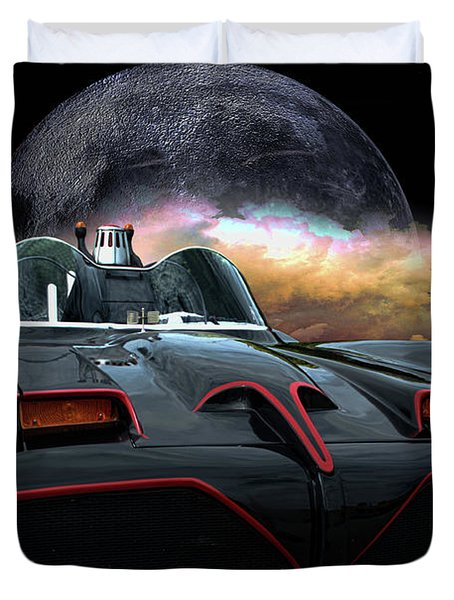Batmobile Duvet Cover
