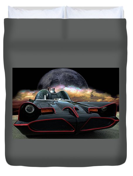 Duvet Cover featuring the photograph Batmobile by Tim McCullough