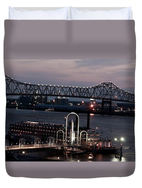 Baton Rouge Bridge Duvet Cover