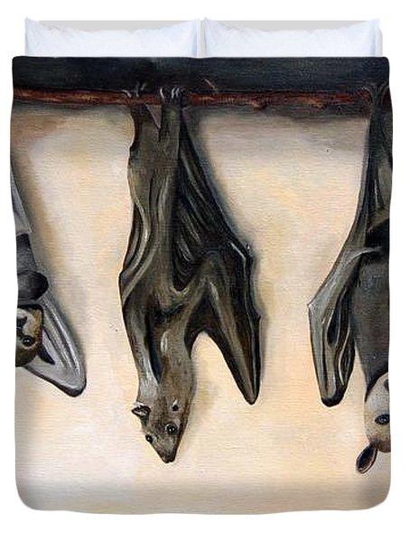 Bats Duvet Cover by Leah Saulnier The Painting Maniac