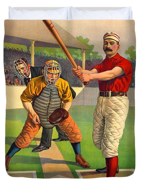 Batter Up 1895 Duvet Cover by Padre Art